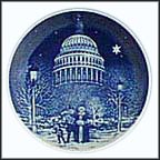 Christmas Eve At The Capitol Collector Plate by Jack Woodson MAIN
