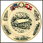 Lincoln's Log Cabin, Jutland, Denmark Collector Plate MAIN