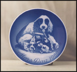 Dog And Puppies Collector Plate by Henry Thelander
