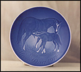 Mare And Foal Collector Plate by Henry Thelander