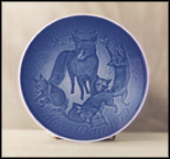 Fox And Cubs Collector Plate by Henry Thelander