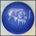 Sheep With Lambs Collector Plate by Henry Thelander MAIN