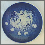 Hen With Chicks Collector Plate by Leif Ragn-Jensen
