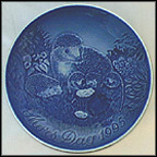 Hedgehog With Young Collector Plate by Allan Therkelsen
