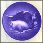 Seal With Baby Collector Plate by Finn Clausen
