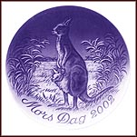Kangaroo With Young Collector Plate by Finn Clausen