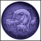 Sow With Piglets Collector Plate by Finn Clausen