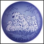 Dalmation with Puppies Collector Plate by Allan Therkelsen MAIN