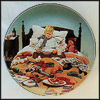 Bored Sick Collector Plate by Kurt Ard