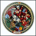 Santa's Workshop Collector Plate by Hans Henrik Hansen