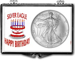 1995 Birthday Cake American Silver Eagle Gift Display THUMBNAIL