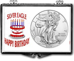Birthday Cake American Silver Eagle Gift Display THUMBNAIL