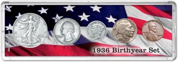 1936 Birth Year Coin Gift Set THUMBNAIL