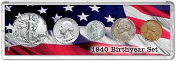 1940 Birth Year Coin Gift Set THUMBNAIL