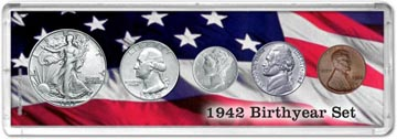 1942 Birth Year Coin Gift Set THUMBNAIL