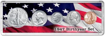 1947 Birth Year Coin Gift Set THUMBNAIL