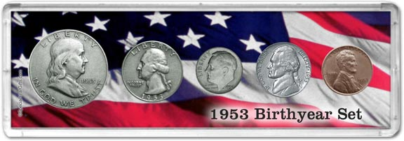 1953 Birth Year Coin Gift Set LARGE