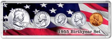 1955 Birth Year Coin Gift Set THUMBNAIL