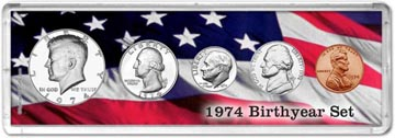 1974 Birth Year Coin Gift Set THUMBNAIL