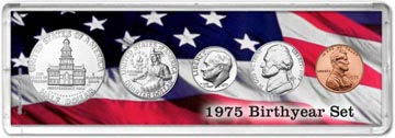 1975 Birth Year Coin Gift Set THUMBNAIL