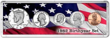 1982 Birth Year Coin Gift Set THUMBNAIL