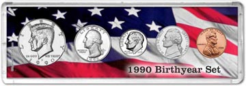 1990 Birth Year Coin Gift Set THUMBNAIL