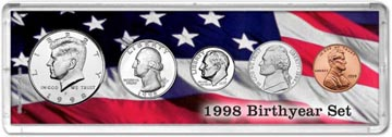 1998 Birth Year Coin Gift Set THUMBNAIL