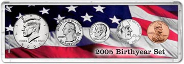2005 Birth Year Coin Gift Set THUMBNAIL