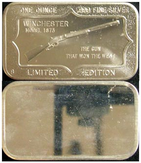 Winchester Model 1873' Art Bar by Belford Mint.