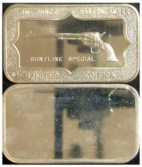 Buntline Special' Art Bar by Belford Mint.