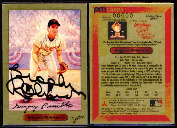 Brooks Robinson by Gregory Perillo - signed by Robinson and Perillo, artist proof' Art Bar.