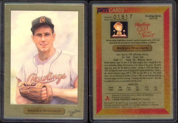 Brooks Robinson by Gregory Perillo; 1 g 999.9 Gold MAIN