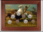Buffalo Hunt Buffalo Nickel Collector Frame THUMBNAIL
