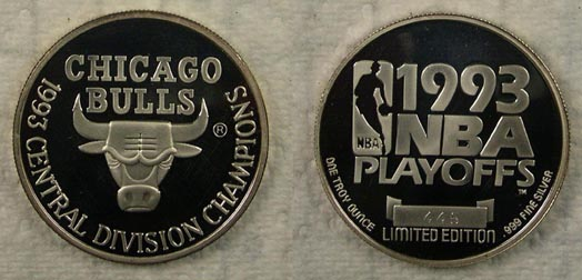 Chicago Bulls - 1993 Central Division Champions' Art Bar. MAIN