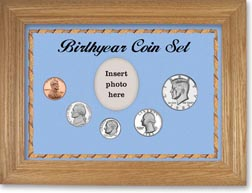 1983 Birth Year Coin Gift Set with a blue background and wheat frame THUMBNAIL
