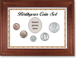 1936 Birth Year Coin Gift Set with a white background and cherry frame THUMBNAIL