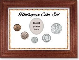 1937 Birth Year Coin Gift Set with a white background and cherry frame THUMBNAIL