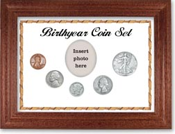 1938 Birth Year Coin Gift Set with a white background and cherry frame THUMBNAIL