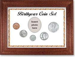 1939 Birth Year Coin Gift Set with a white background and cherry frame THUMBNAIL