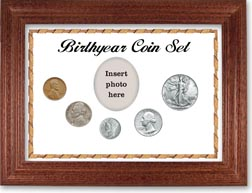 1940 Birth Year Coin Gift Set with a white background and cherry frame THUMBNAIL