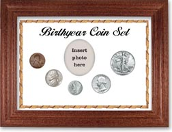 1941 Birth Year Coin Gift Set with a white background and cherry frame THUMBNAIL