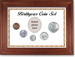 1942 Birth Year Coin Gift Set with a white background and cherry frame THUMBNAIL