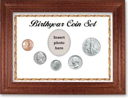 1947 Birth Year Coin Gift Set with a white background and cherry frame THUMBNAIL
