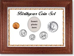 1967 Birth Year Coin Gift Set with a white background and cherry frame THUMBNAIL