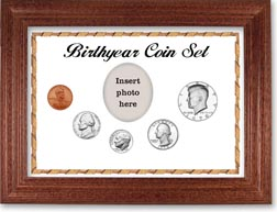1970 Birth Year Coin Gift Set with a white background and cherry frame THUMBNAIL