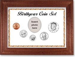 1974 Birth Year Coin Gift Set with a white background and cherry frame THUMBNAIL