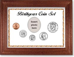 1985 Birth Year Coin Gift Set with a white background and cherry frame THUMBNAIL