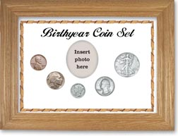1936 Birth Year Coin Gift Set with a white background and wheat frame THUMBNAIL