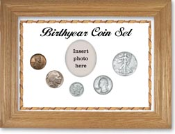 1937 Birth Year Coin Gift Set with a white background and wheat frame THUMBNAIL