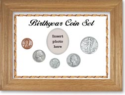 1938 Birth Year Coin Gift Set with a white background and wheat frame THUMBNAIL